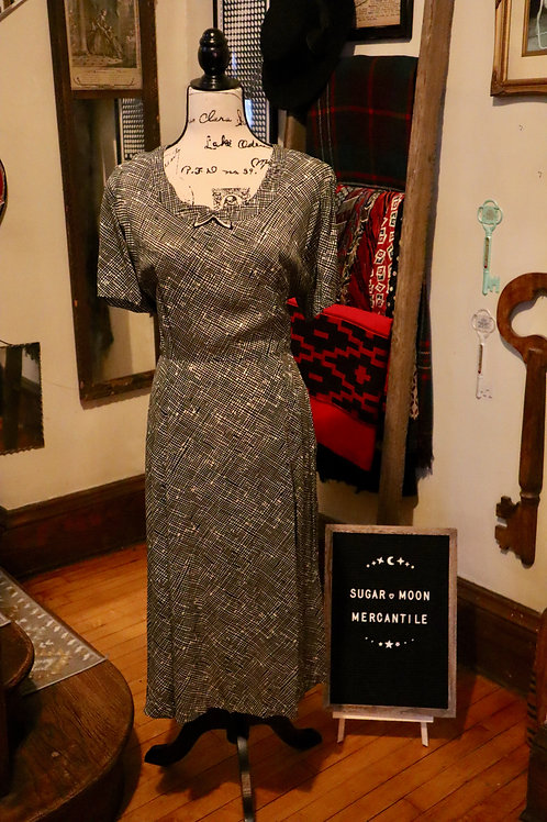1940s Two Piece Rayon Suit