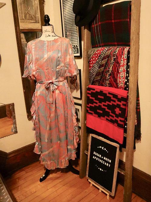 1970s -  The Silk Farm Chiffon Dress