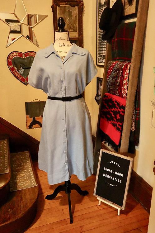 1960 Tailer Town - Pastel Blue Dress