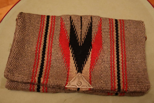 1930s Chimayo  Ganscraft Grey Chimayo Clutch Purse