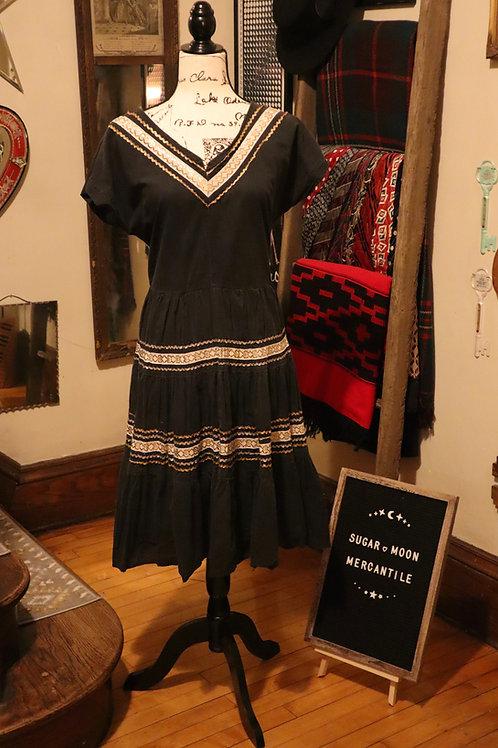 1950s Mexican Fiesta Dress