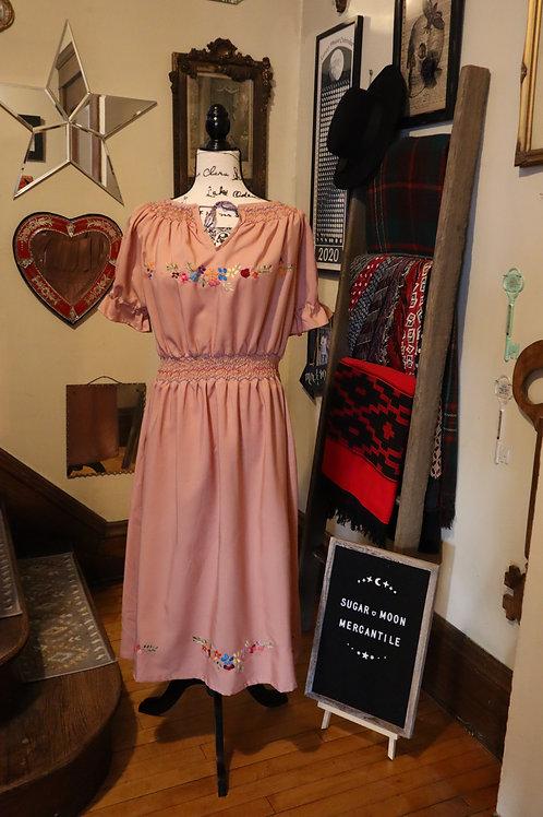 1970s  Peasant Dress