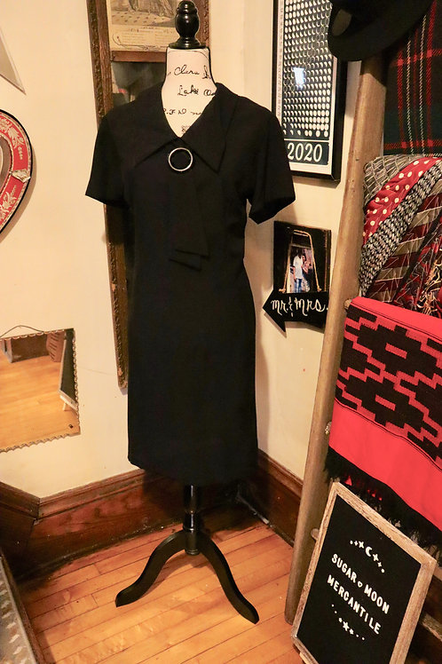 Late 1960s Collared Little Black Dress