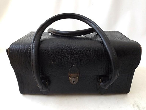 1970's Military Black Leather Doctor Bag