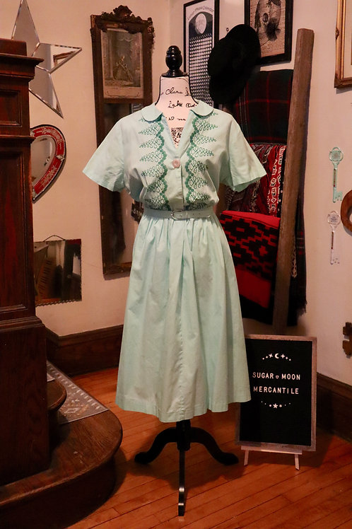 1950s Mint Green Day Dress