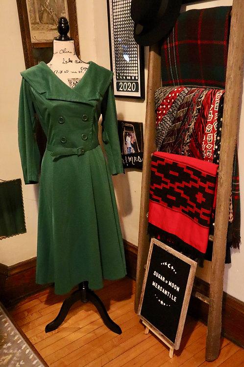 Bettie Page - Dark Green -  Secretary Swing Dress