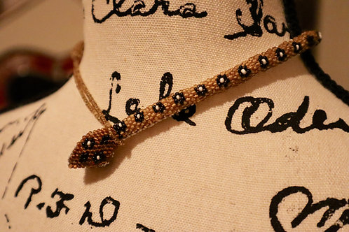 Extremely RARE 1920s beaded snake necklace