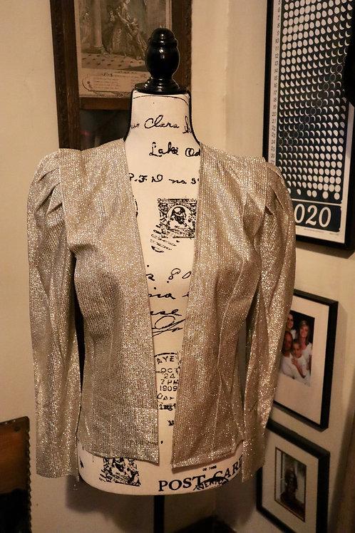 1980s Frederick's of Hollywood Lurex Silver Blazer