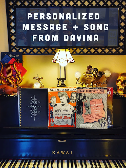 Personalized Message and Song / Davina