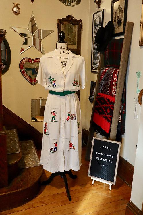 1940s Tourist Dress