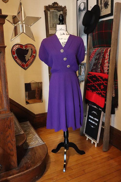1940s Royal Purple Blakely Fashions Dress