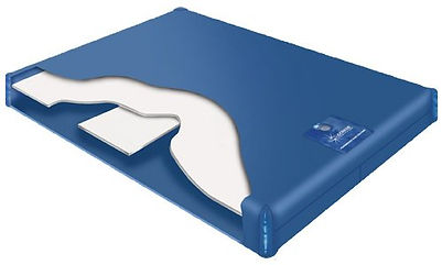 waterbed mattress with lumbar semi motionless