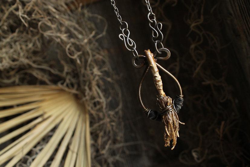 Sage Swamp Witch Broom * Spanish Moss Bristles