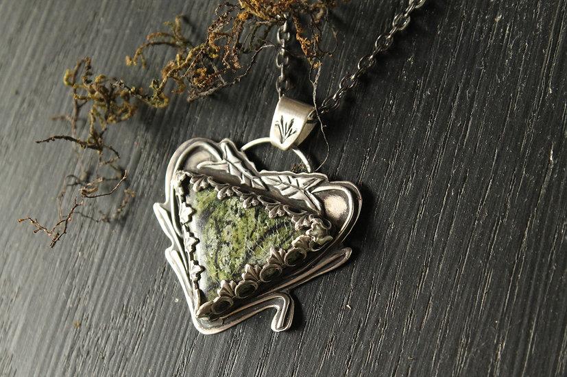 Arrow Arum * Sterling Silver * Swamp Water Jasper
