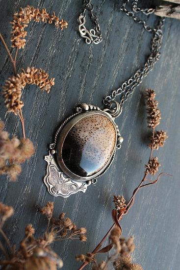 Petrified Palmwood * Sterling Silver * Cicada Twilight