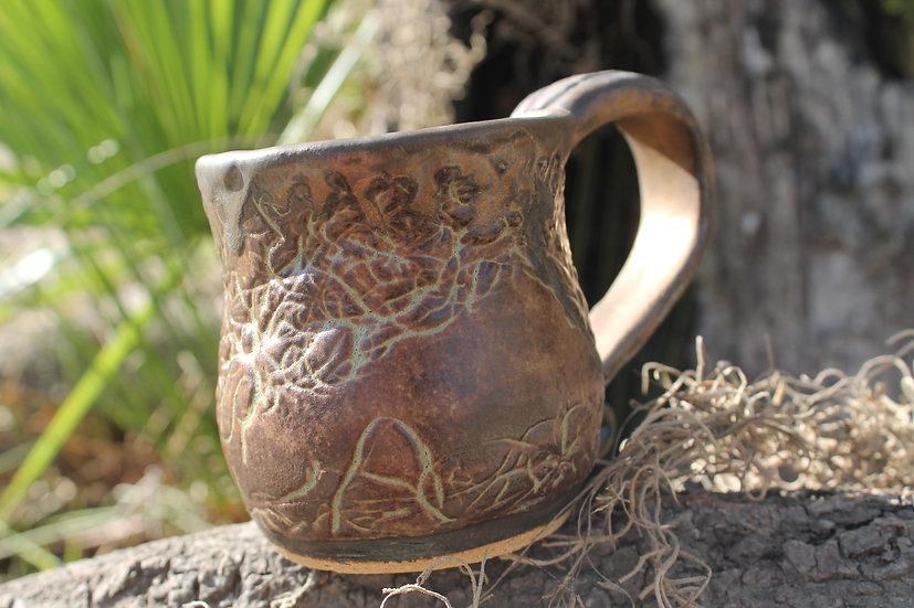 * Golden Afternoon * Spanish Moss Mug*