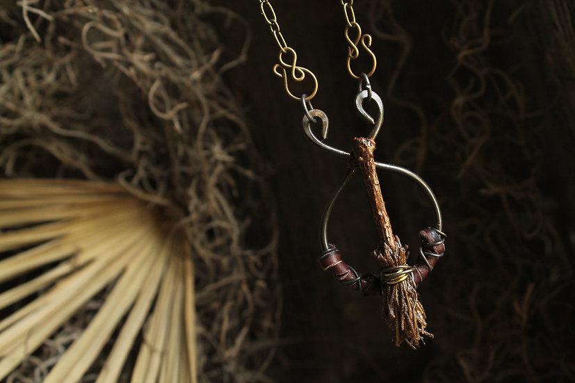Cypress Swamp Witch Broom * Spanish Moss Bristles