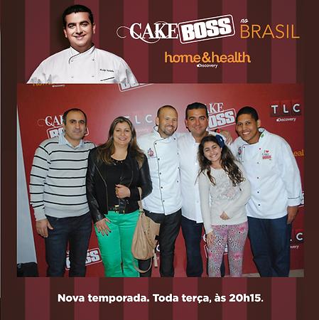 Cake Boss no Brasil - Cake Designers Leandro Iogurtinho, Buddy Valastro e Mário Santiago Junior