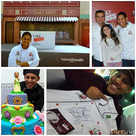 Cake Boss no Brasil - Cake Designers Buddy Valastro e Mário Santiago Junior