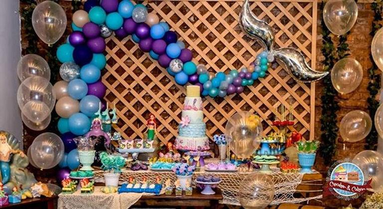 •_🏝🧜♀️🐚 Festa _Pequena Sereia 🐚🧜♀