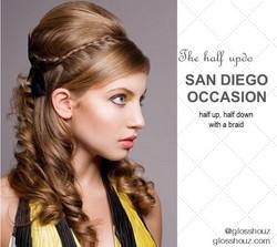San Diego City-style Half Updo