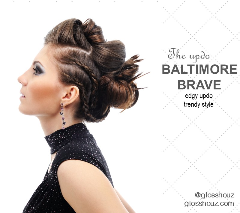 Baltimore Brave CIty-style Updo