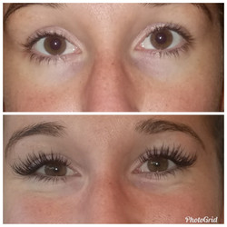 Eyelash Extensions Before & After