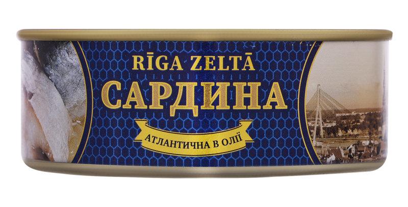 Сардіна RIGA ZELTA в олії 0,240 г