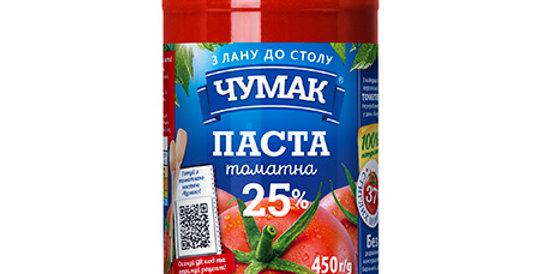 Паста томатна ТМ Чумак 0,450 г