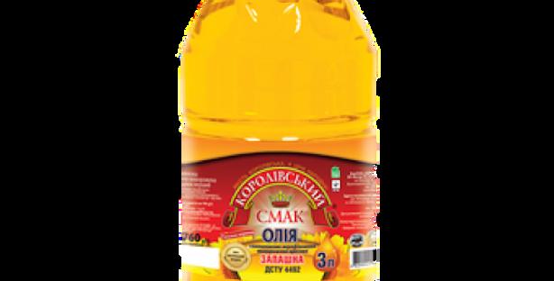 Олія ТМ Королівський Смак нерафінована 3 л