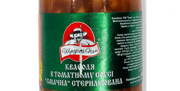 Квасоля ТМ Щедрий Пан в томатному соусі 0,500 г