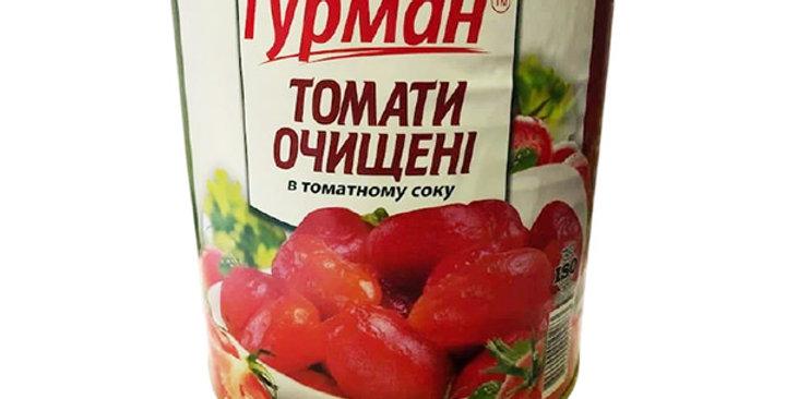 Помідори ТМ Гурман Очищені в томатному соусі  2600 г