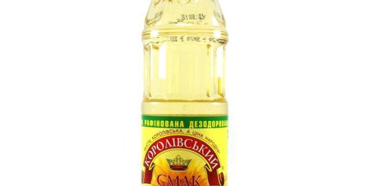 Олія ТМ Королівський смак рафінована 1 л