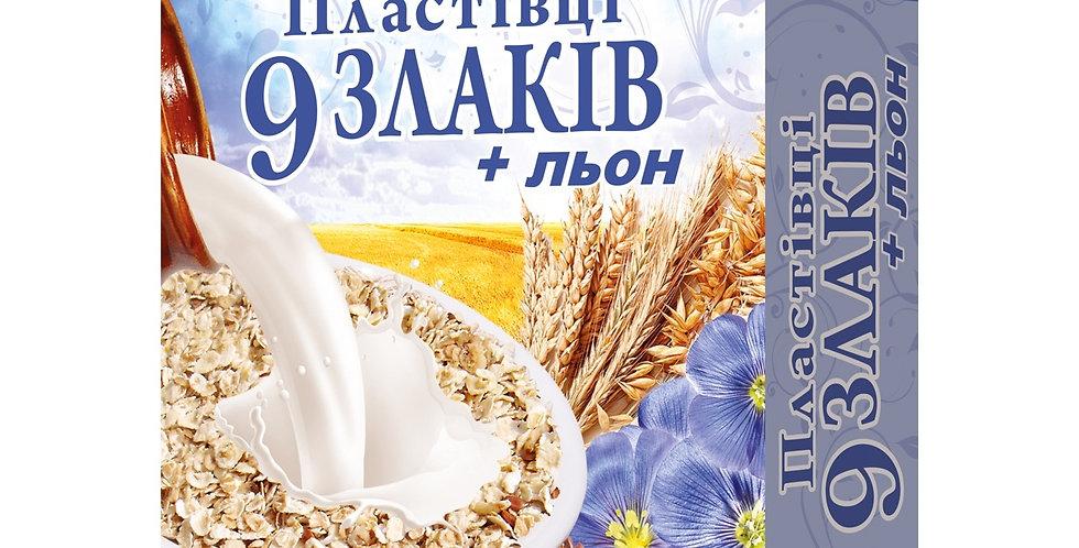 Пластівці вісяні 9 злаків із насінням льону 600 г