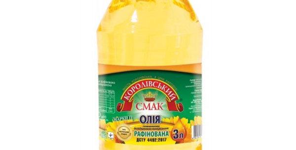 Олія ТМ Королівський Смак рафінована 3 л