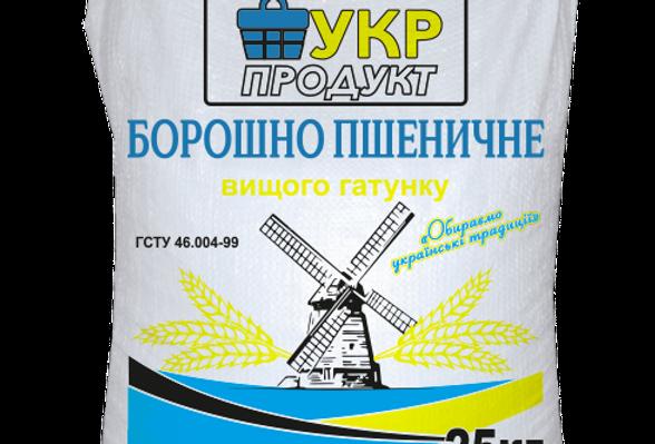 Борошно пшеничне в/г 25 кг
