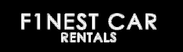 finest car rentals logo white