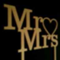 Mr. and Mrs. cake toppers, gold acrylic plastic, laser cut, cake toppers, custom cake toppers, wedding ideas, laser cutting, event planning, wedding gifts