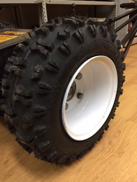 Bin Mover Features - Aggressive Wheel Tread for Easy Manuvering