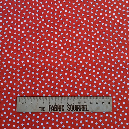 Red Polka Dot Fabric - Best Friends Fur Ever