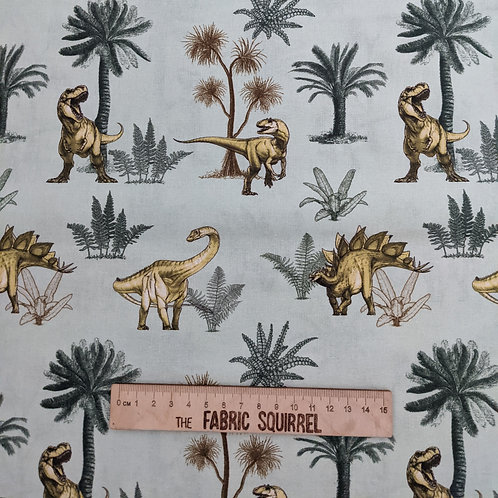 Green Dinosaurs - Natural History Museum Fabric