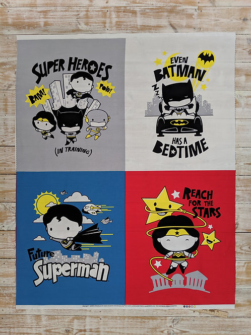Superhero Panel - Justice League by Camelot Fabrics