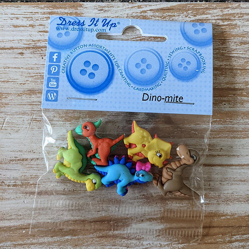 Dinosaur Buttons - Dino Mite from Dress It Up