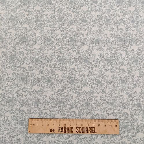 Pale Blue Floral Fabric- Hootsie from Craft Cotton Company