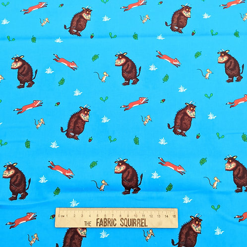Blue Fox and Mouse Fabric - The Gruffalo by Julia Donaldson
