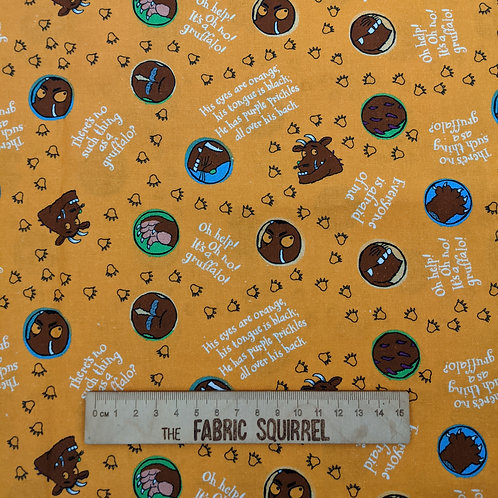 Orange Scariest Creature Fabric - The Gruffalo by Julia Donaldson