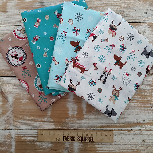 Freddie and Friends - Christmas Dog Fabric