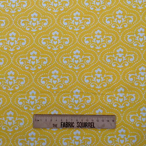 Yellow Toil Symmetrical Fabric- Summer Song by 3 Wishes Fabric