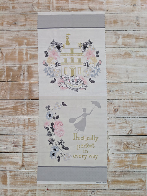 Practically Perfect in Every Way Quilt / Cushion Panel - Mary Poppins Disney