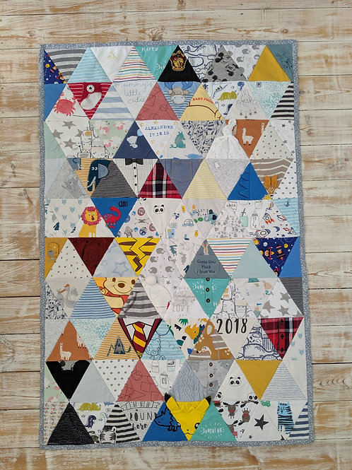 Geometric Triangle Keepsake Quilt